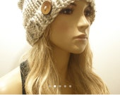 Oatmeal Tweed Beanie For miymiy