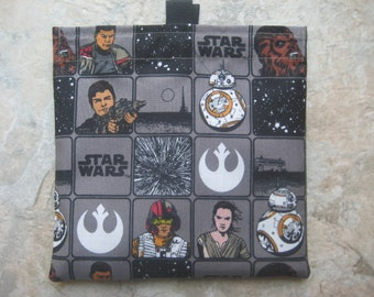 Star Wars Reusable Sandwich Bag, Snack Bag with easy open tabs