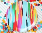 Melamine dinner plate, Rita Ortloff, Pencil Shavings Studio, teacher gift, cookies, christmas, new, abstract art