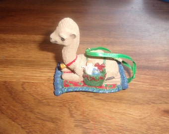 vintage danbury mint christmas ornament the baby animals camel with tag