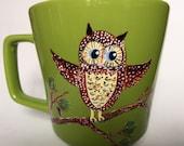 Green Owl Coffee Mug
