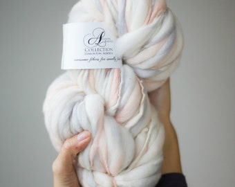 Blush Bloom Handspun Thick and Thin Merino Wool Yarn - Made to Order
