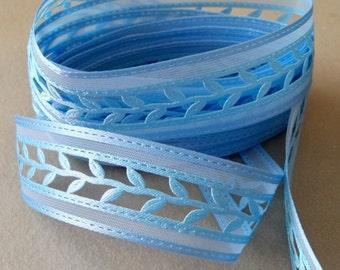 Blue 3D Die Cut Ribbon Trim-22mm-3 YDS
