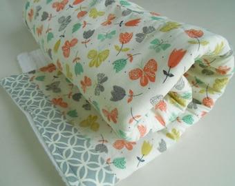 Dishmat / Dish Drying Towel in Butterflies / Dish Drying Mat