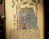 Liberty House : Blackbird Designs Barb Adams Alma Allen counted cross stitch patterns prim folk art sampler 4th of July hand embroidery