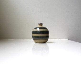 Mid Century Modern Petite Bud Vase Porcelain Hand Painted Earthtones OMC Japan