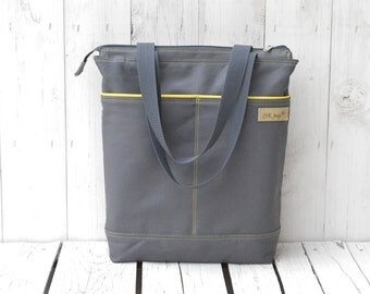 Canvas Changing bag, Zipper Diaper tote, Messenger cross body, laptop carrier, macbook pack, handmade gift