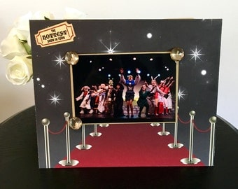 Theater Theatre Picture Frame Magnetic Gift Home Decor Photo 5 x 7 9 x 11 Broadway Musical Highschool Drama -Red Carpet Musical