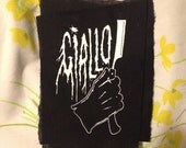 HORROR GIALLO PATCH the gloved hand with the old school shaving blade that spells your death