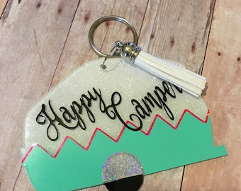 Personalized Camper Keychain - RV - Travel Trailer - Mother's Day Gift - Grandparents Gift - Motorhome - Camping - Glamping - Mother's Day