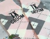 Groom Socks - Grooms Gift - Wedding Socks - Mens Gift  - Gift From Bride - Mens Dress Socks - Blush - Pink - Groomsmen Gift - Argyle