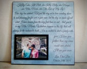 Gift for Wife on Wedding Day, Personalized Wedding Vow Picture Frame,  Gift for her, Wedding Gift Idea From Groom, Wedding Gift for Bride
