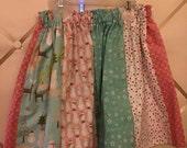 Christmas mix print skirt - ready to ship sz 5/6