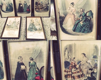 Beautiful Collection of French Fashion Lady Litho Prints