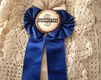 Antique Fraternal Badge Ribbon