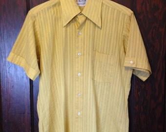 MARLBORO Dress Shirt, Short Sleeve, Embroidered