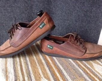 Vintage Eastland Leather camp moccasins boat shoes USA Maine mens 11.5