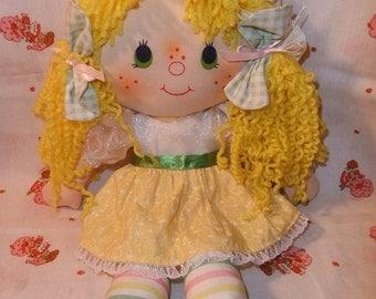 Vintage Strawberry Shortcake Custom Rag Doll Made to Order