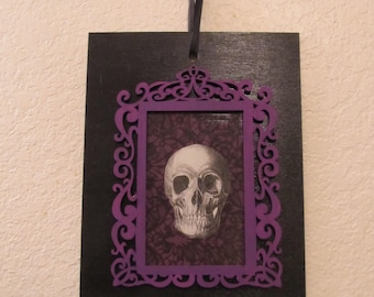 Gothic Victorian Anatomical Skull Wall Hanging