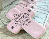 Wholesale Baptism Favors Set of 10 Personalized Cross Ornaments