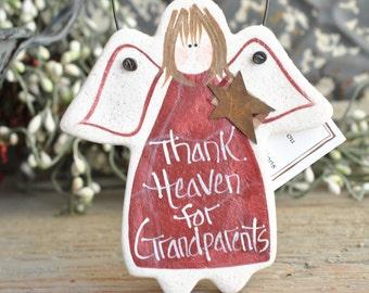 Grandparents Gift Salt Dough Ornament / Anniversary Gift / Christmas Ornament
