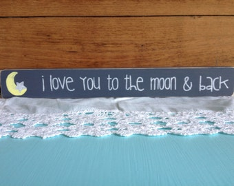 Love You to the Moon Shelf Sitter