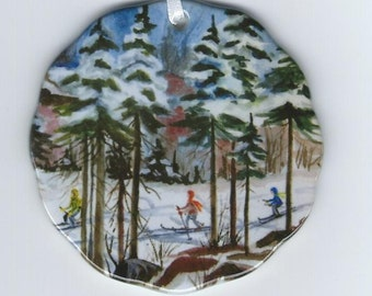 Noquemanon Ski Trail Governor's Choice Series ornament- Marquette,Mi.