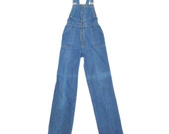 Vintage Denim Overalls — Size XS