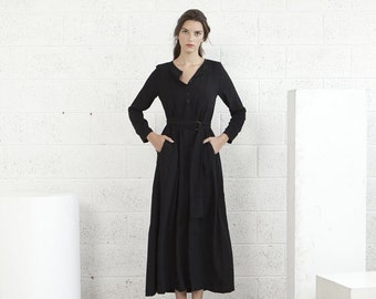 Valentines day SALE!Winter Maxi dress - Black