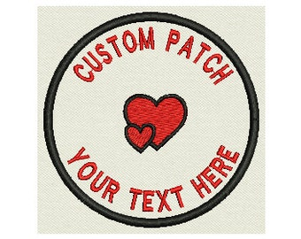 Custom Embroidered Patch - Wedding circle patch - Personalize it! - Sew on or Iron On 3.5""