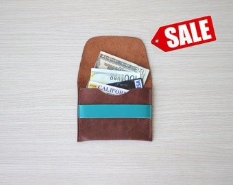 SALE Leather Wallet. Leather Card Holder. Leather Card Wallet. Leather Cash Wallet. Wedding Gift Idea. Bridesmaid Idea. Gift For Her