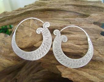 Silver earrings - The Swirl Eyes (8)