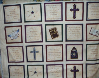 Christian fabric panel 100% cotton