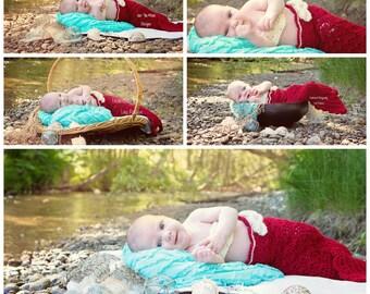 Mermaid tail cocoon, newborn mermaid tail cocoon, crochet mermaid tail pattern, PATTERN ONLY