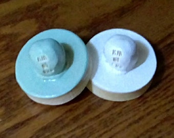 Set of 2 - Stoneware Cookie Stampers - Pentacle