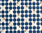 Sheep Dots in Navy Blue, Westex, Japanese Import Fabric, 100% Cotton Fabric
