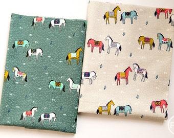 Honeymoon Horseback Half Yard Bundle, 2 Pieces, Sarah Watts, Cotton+Steel, RJR Fabrics, 100% Cotton Fabric, 2019