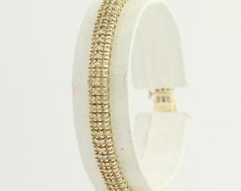 """Diamond Tennis Bracelet 6 3/4"""" - 14k Yellow Gold Champgane Brown 3.50ctw L9295"""