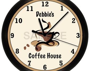 Personalized Custom COFFEE SHOP Restaurant Wall Clock
