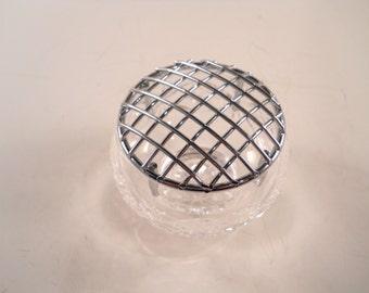 Glass Sparkle Silver Tone Potpourii holder vintage