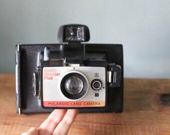 Vintage 1970's Polaroid Super Shooter Plus Land Camera with Original Case & Manual