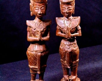 Carved Wood Thai deities