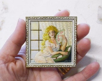 SALE 15% OFF! 1/12 scale Miniature original art for dollhouse