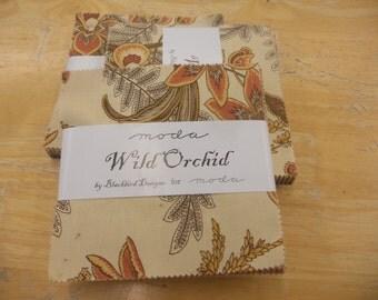 Wild Orchid charm packs by Blackbird Designs for moda fabrics