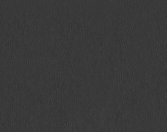 Soft metallic Faux Leather with slight shine.  Light, Stylish Faux Leather Upholstery Fabric - Color:  Frost Charcoal - per yard
