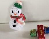Mini Snowman - amigurumi - handmade snowman - crochet