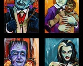 On Sale Munsters family portrait poster by Shaunna Peterson