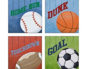 Sports Wall Art, Print, Original Painting, Canvas Wall Art
