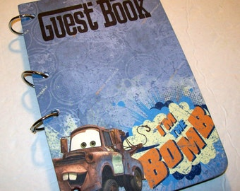 Guest Book, Tow Mater Party, Cars Party, Birthday Guest Book, First Birthday, 1st Birthday, Cars Party Decor