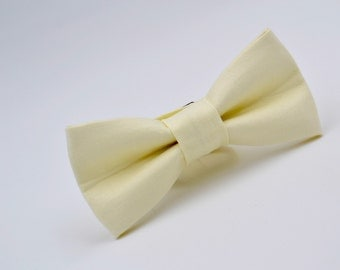 Bowtie Boys in Ivory, Boys Cream Bow Tie